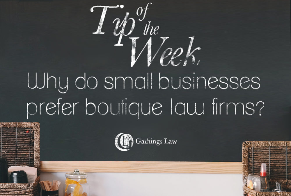 Boutique Law Firms Are Made For Small Businesses