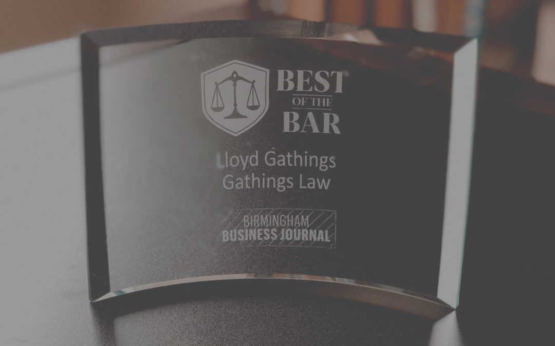 Lloyd Gathings Recognized in Birmingham Business Journal's Best of Bar Awards 2019